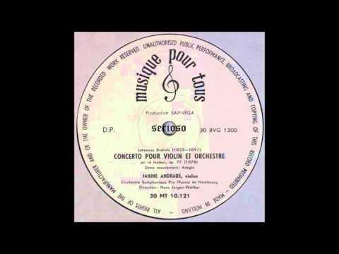 Brahms, Violin Concerto, 2,3mov, Janine Andrade