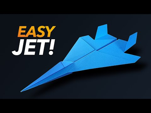 How to make an Easy Paper F-15 Fighter Jet! | Easy Paper Jet