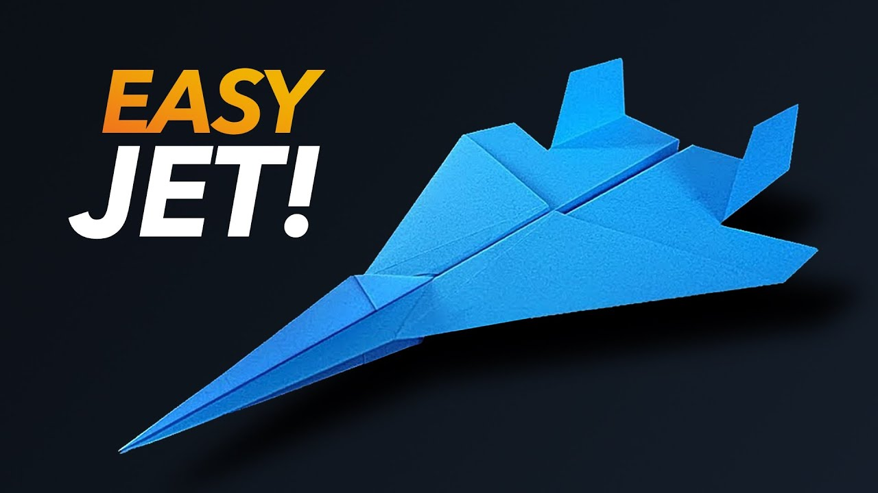 How To Make An Easy Paper F 15 Fighter Jet