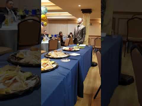 Baby naming speech by meal for Yosef Yechezkel