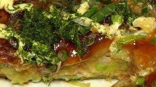 Okonomiyaki Recipe Remastered  Cooking with Dog