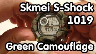 Часы Skmei S-Shock 1019 Green Camouflage - обзор посылки с Aliexpress