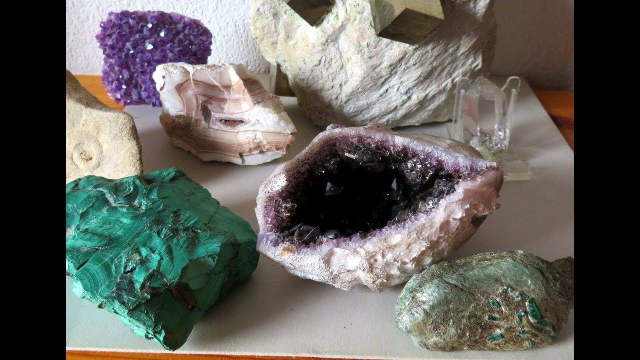Edelsteine aus aller Welt Mineralien Sammlung mit 8 Mineralien
