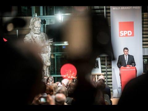 Sigmar Gabriel verleiht 5. Int. Willy-Brandt-Preis der SPD an UNHCR