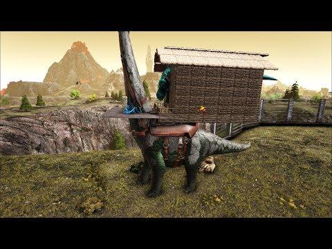 Ark Coop Map Crystal #44: Xây nhà trên khủng long cho chúa t-Rex prime