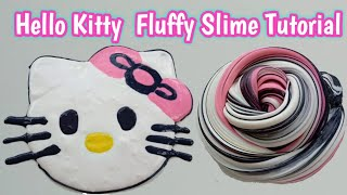Cara membuat Hello Kitty Fluffy Slime Tutorial