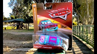 Disney Cars 3 Toys at the Park - Blindspot Unboxing Thunder Hollow Demo Derby at the Playground