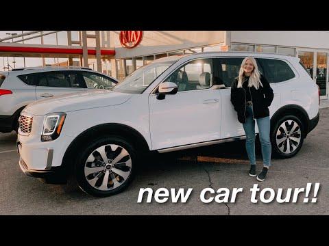 I bought a new car!! 2021 Kia Telluride S *car tour*