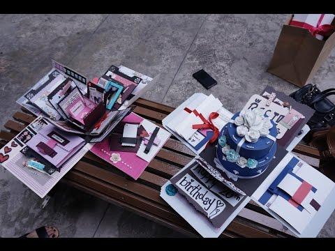 Birthday exploding box card