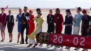 Behind the scenes: SkyTeam's Mojave desert photo shoot
