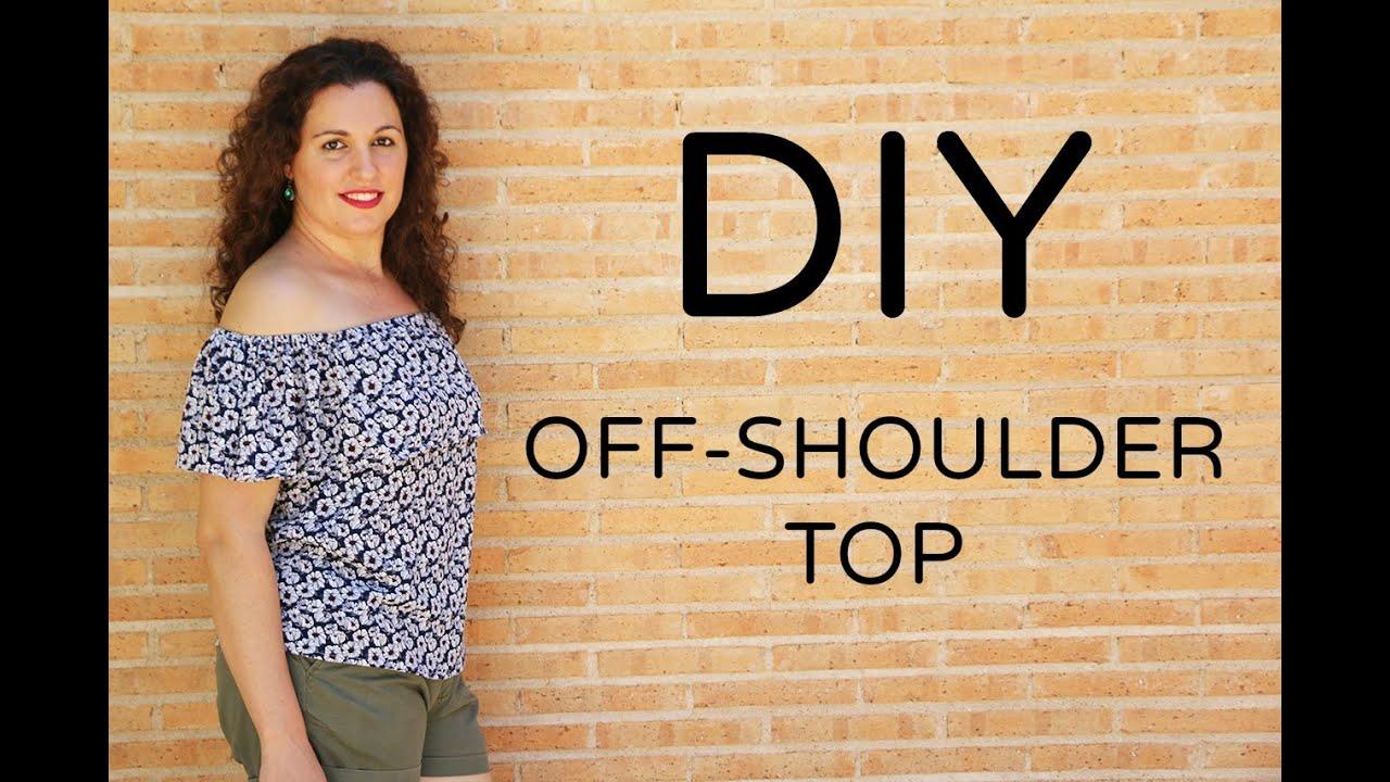 DIY Top Hombros descubiertos DIY Off the Shoulder