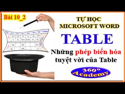 Tự học Microsoft Word – Bài 10_2: Table – Thần thông biến hóa trong Table