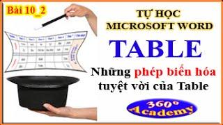 Tự học Microsoft Word - Bài 10_2: Table - Thần thông biến hóa trong Table