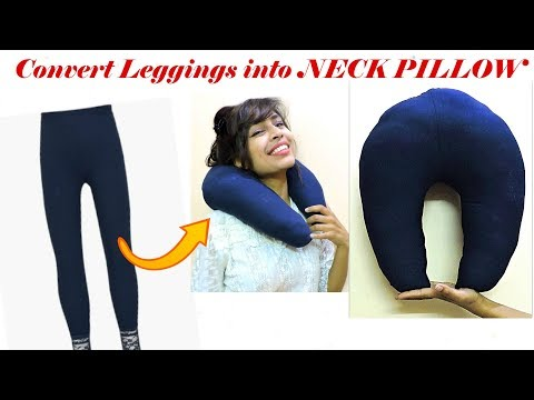 convert-old-leggings-into-travel-neck-pillow-only-in-10-minutes/-diy