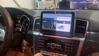 Mercedes GL X166 с большим монитором на Android