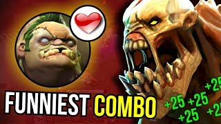RELATIONSHIP GOALS - Epic Combo Life Stealer + Pudge 7.07 Dota 2 | Upside Down #9