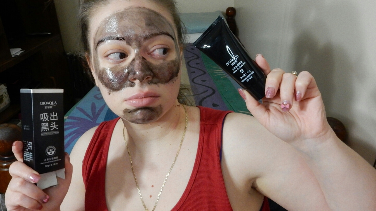 Bioaqua Activated Carbon Mask First Impression Youtube Masker Charcoal