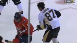 Ovechkin Knocks Crosby