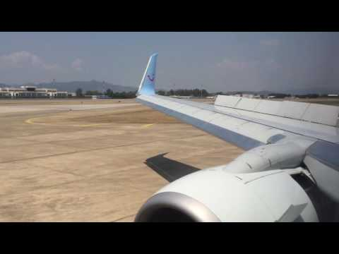 Thomson TOM254 737-800 Landing at Dalaman, Turkey (Inc. Passenger conversations)