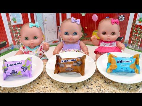 Куклы Пупсики На Пикнике Кушают Сырки Мультики для детей Как Мама Кормила Девочек 108мама тв