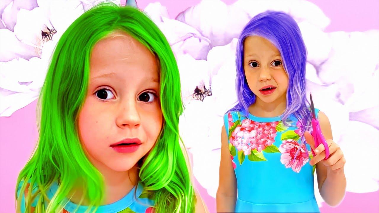 Nastya dan mimpi aneh tentang rambut berwarna