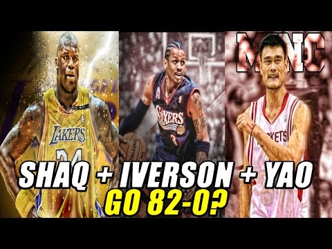 Could SHAQ + ALLEN IVERSON + YAO MING go 82-0?