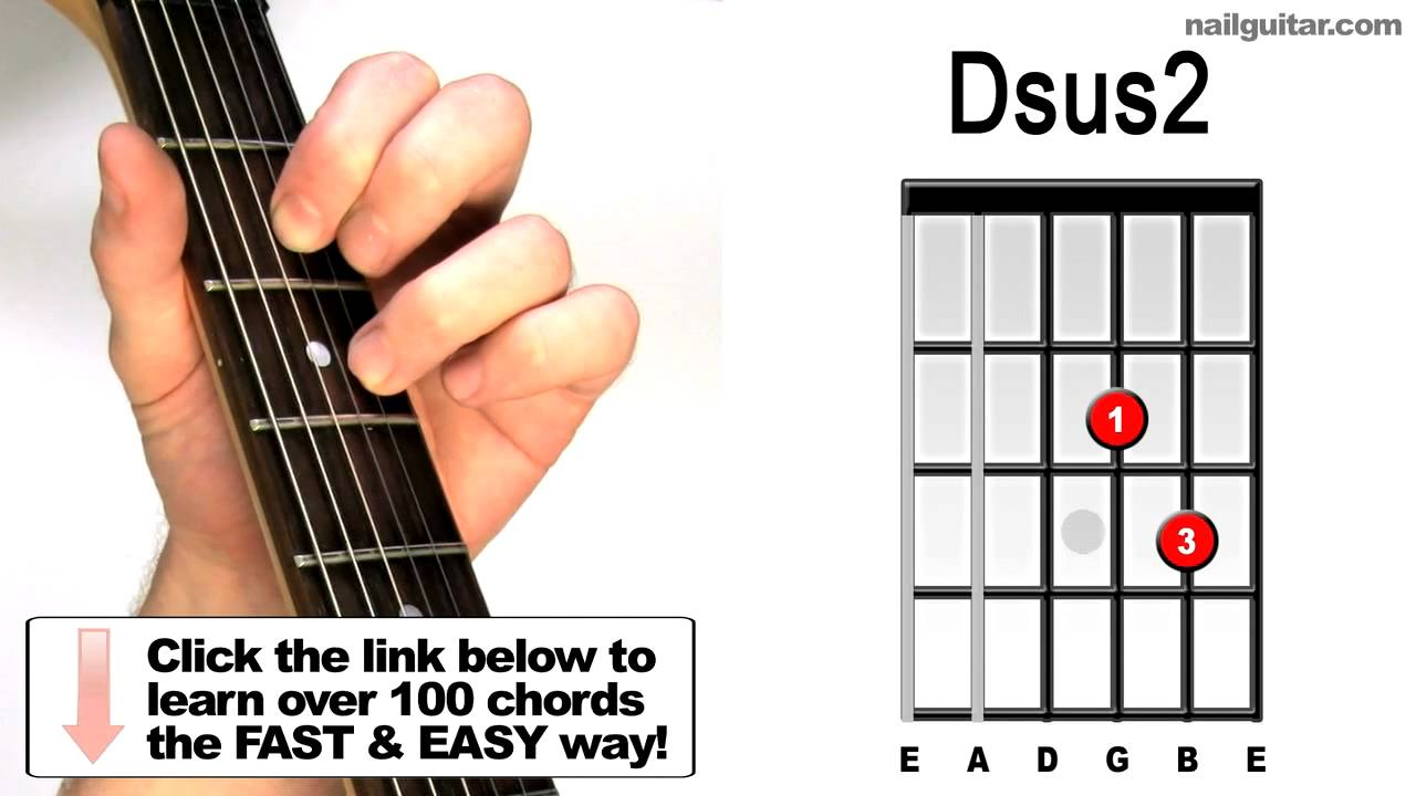 How To Play Dsus2 Suspended Guitar Chords Lesson Youtube