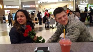 Airman proposes thank you for your service