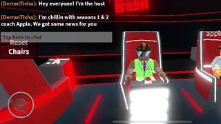 The Voice Roblox Host Derran Chats With Coach Appleliker- The Voice Roblox S2