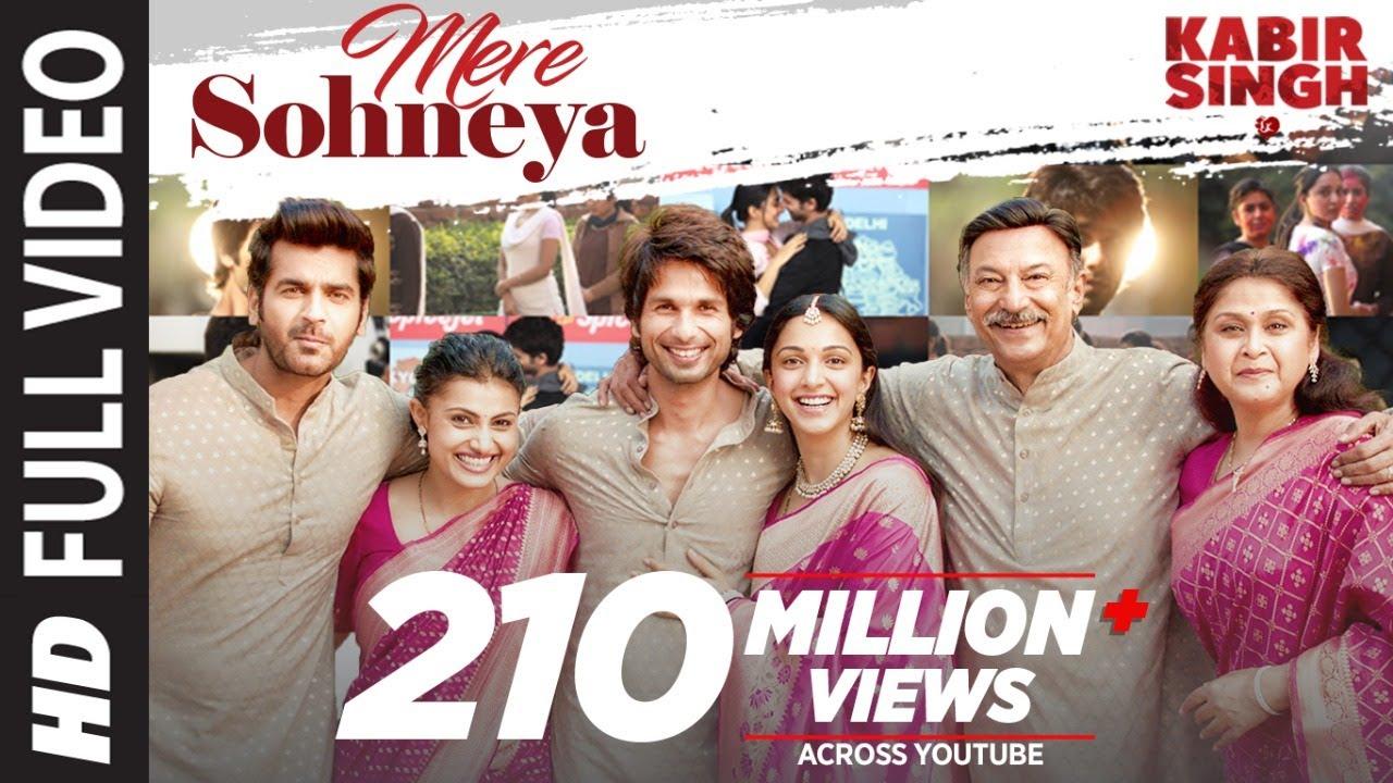 Download Full Song: Mere Sohneya | Kabir Singh | Shahid K, Kiara A, Sandeep V | Sachet - Parampara | Irshad K