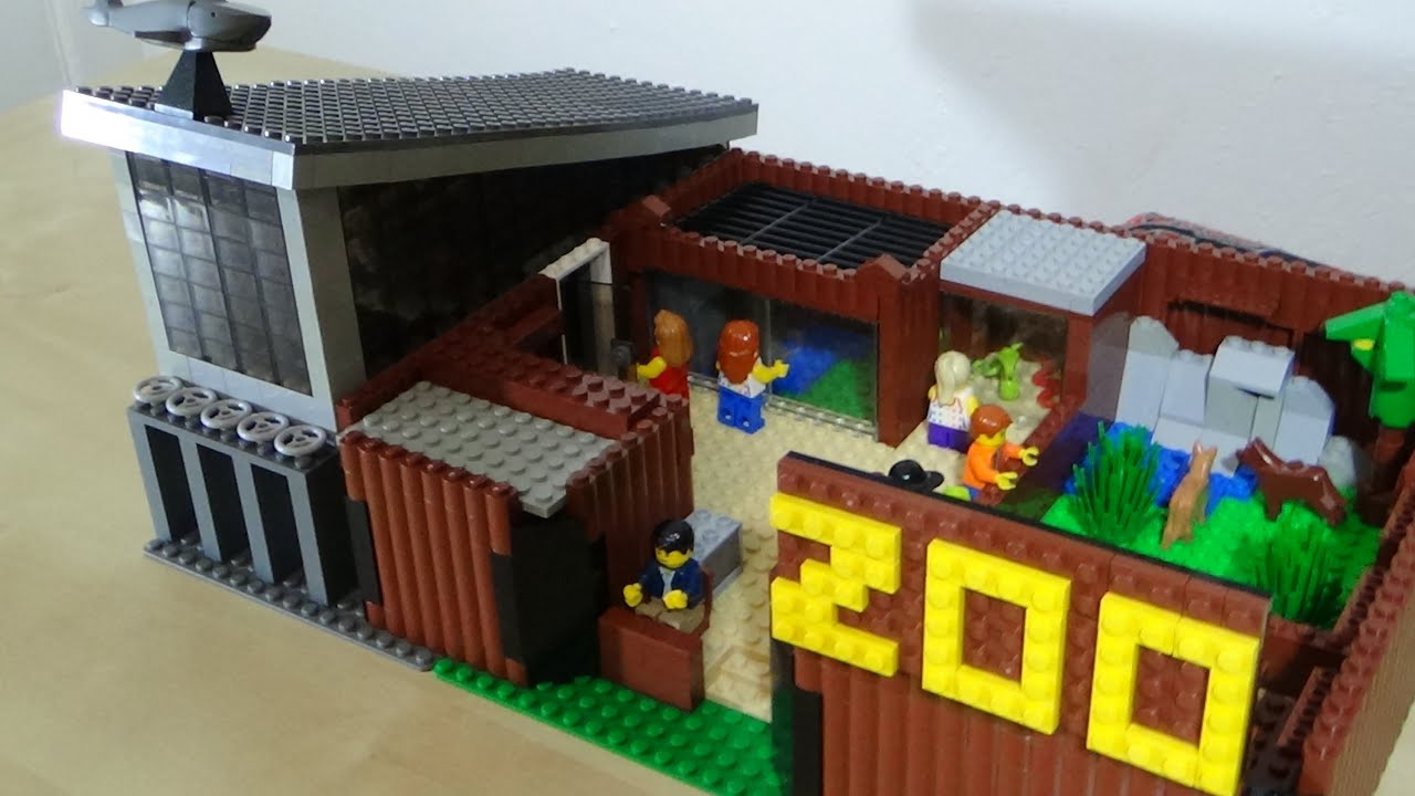 Lego zoo and aquarium moc youtube - Comment faire une ville lego city ...