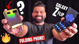Gambar cover Samsung Galaxy Z Flip First Look - The Stylish Folding Smartphone Surprise!!!🔥🔥🔥