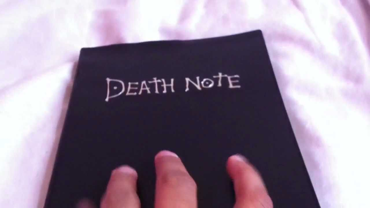 Death Note Notebook Unboxing - YouTube