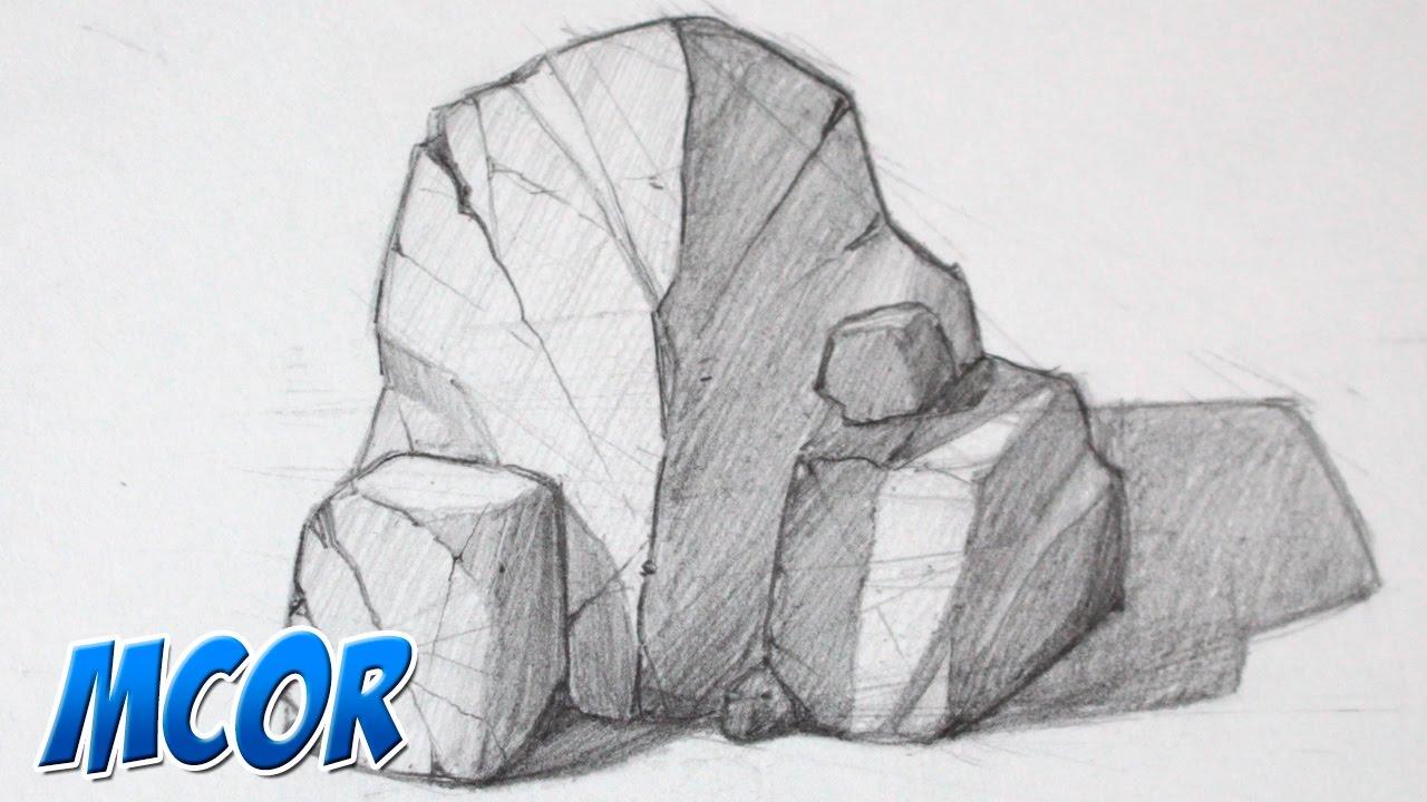 Como Dibujar Rocas Parte 1 Youtube