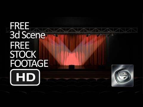 Free Stock Footage & 3d Scene - Stage Curtain Opening HD