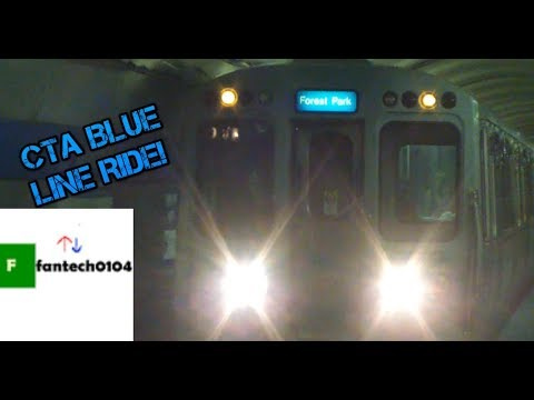 Riding a Budd 2600 Series Train Rebuilt by Alstom on the CTA Blue Line: From Jackson to Clinton