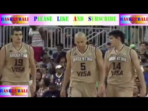 [ Sport basketball ] - Argentina - USA 2016 Olympic Men's Basketball Exhibition - PART 2