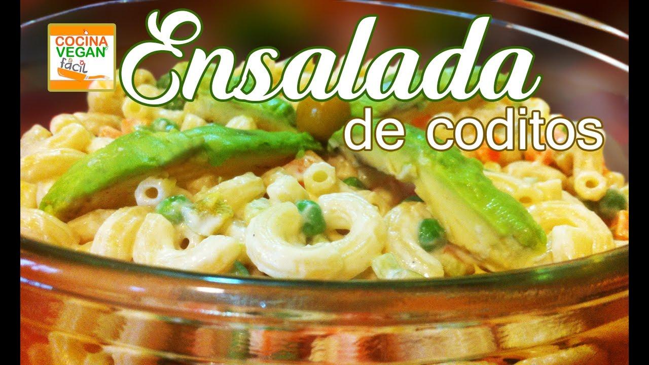 Ensalada de coditos cocina vegan f cil youtube for Cocinar facil