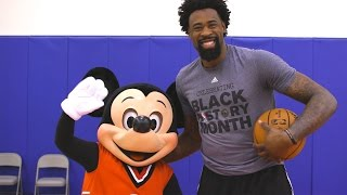 Team Mickey Visits the Los Angeles Clippers