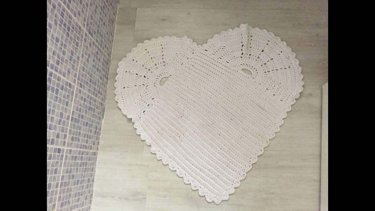 tuto tapis coeur au crochet youtube. Black Bedroom Furniture Sets. Home Design Ideas
