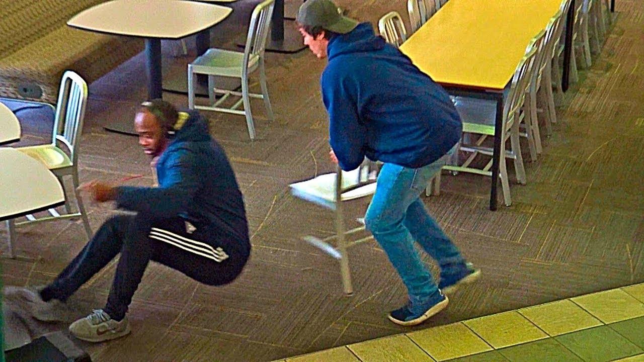 Chair Pulling Prank Part 8