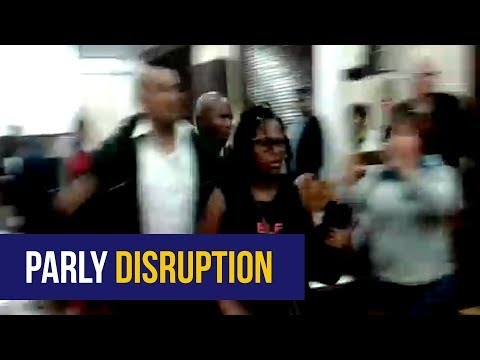 WATCH: Portfolio Committee on Home Affairs disrupted by protesters
