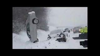 Kar yağdı böyle oldu..! (Yeni.!) Türkiye Karda Kaza Yapan Araçlar Kaza Anı Türkiye