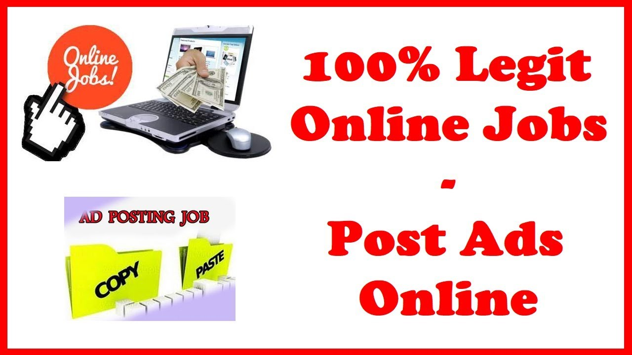 100% Legit Online Jobs - Post Ads Online - YouTube