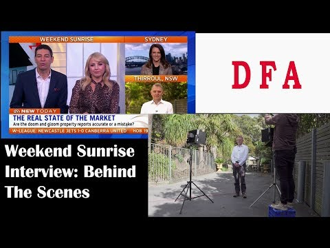 Weekend Sunrise Interview And Behind The Scenes