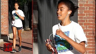 Malia Obama Just An Average College Kid Out For A Jog
