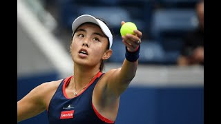 Alison Van Uytvanck vs. Qiang Wang | US Open 2019 R2 Highlights