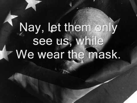 sample we wear the mask essay join now to essay we wear the mask and other term papers or research documents the pain and rage in the soul of a black person were hidden behind the