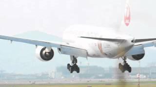 大阪空港に今日飛んできた日本航空(JAL)内村航平の特別塗装機 #eizosuisen thumbnail