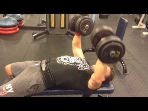 Mark Mcentee - 70 lb. Dumbbell Press x8 @ 189 Bw.